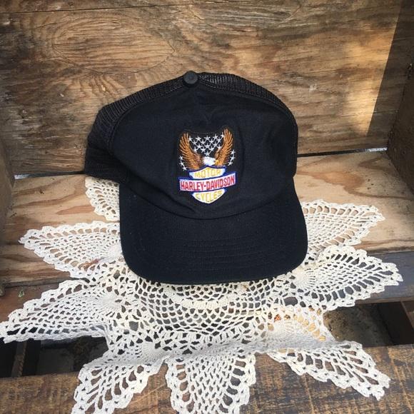 Vintage Accessories Harley Davidson Trucker Hat Poshmark